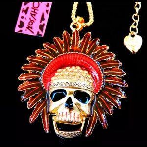 BETSEY JOHNSON~ Skull Chief Necklace